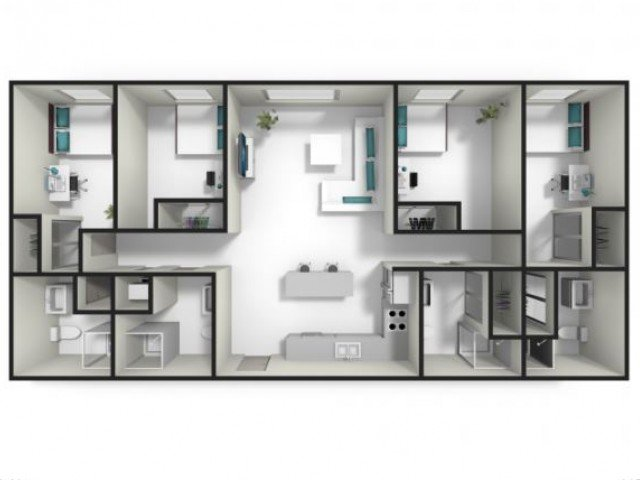4 Bedrooms 4+ Bathrooms Apartment for rent at Fuse in West Lafayette, IN