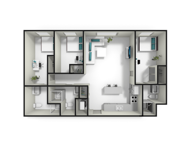 3 Bedrooms 3 Bathrooms Apartment for rent at Fuse in West Lafayette, IN