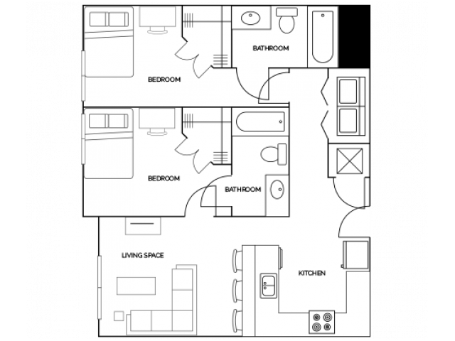 2 Bedrooms 2 Bathrooms Apartment for rent at Aspire At Discovery Park in West Lafayette, IN