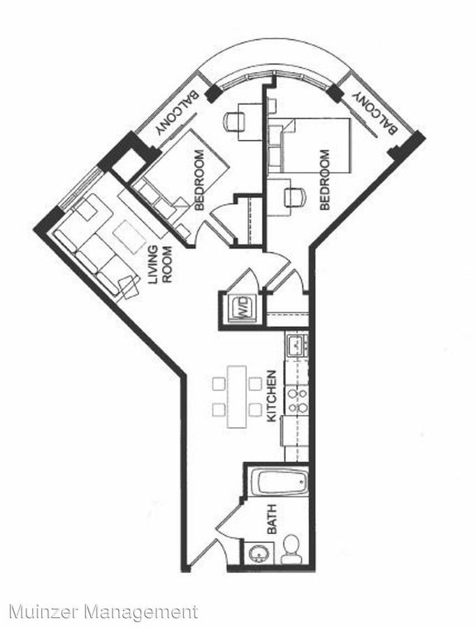 2 Bedrooms 1 Bathroom Apartment for rent at 300 W. State Street in West Lafayette, IN