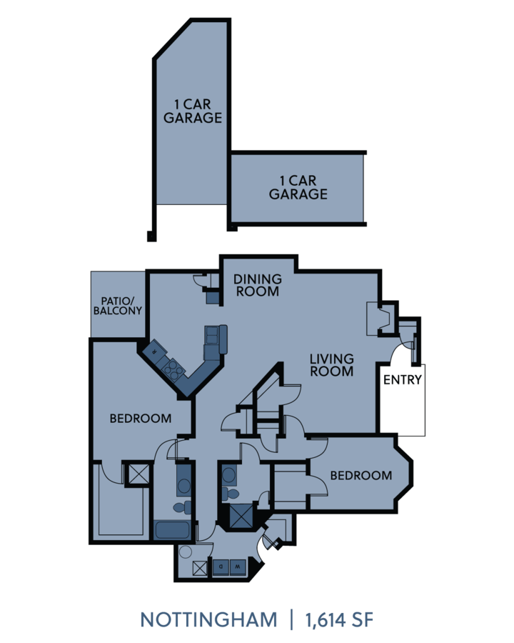2 Bedrooms 2 Bathrooms Apartment for rent at Cambridge Villas in Omaha, NE