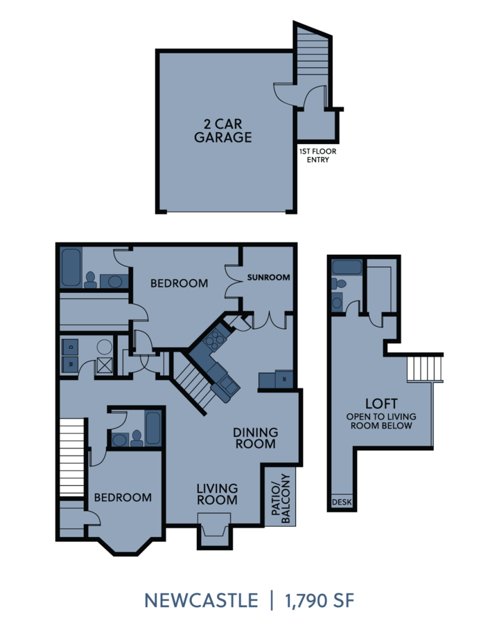 3 Bedrooms 3 Bathrooms Apartment for rent at Cambridge Villas in Omaha, NE