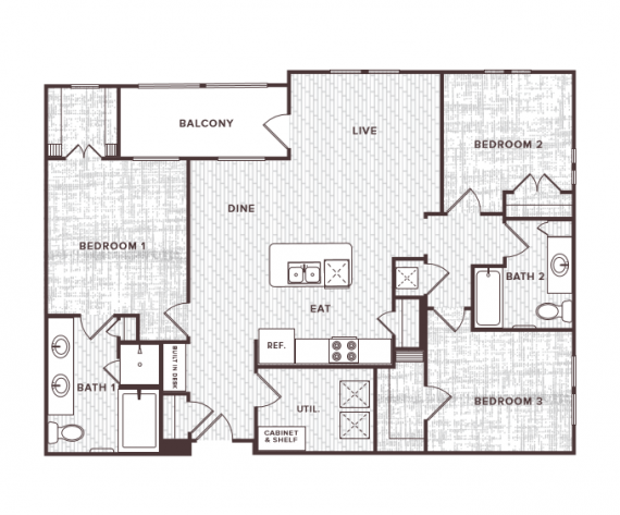 3 Bedrooms 2 Bathrooms Apartment for rent at Soco At Tower Point in College Station, TX