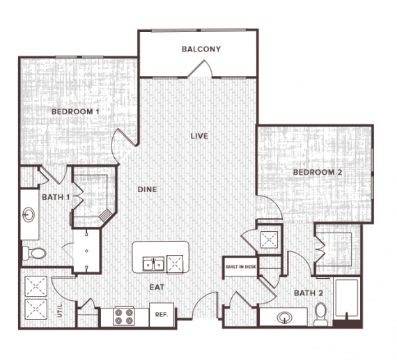 2 Bedrooms 2 Bathrooms Apartment for rent at Soco At Tower Point in College Station, TX