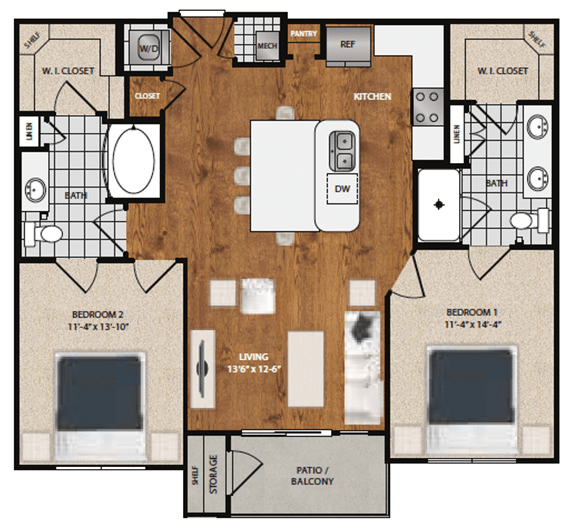 2 Bedrooms 2 Bathrooms Apartment for rent at 8085 At Traditions in Bryan, TX