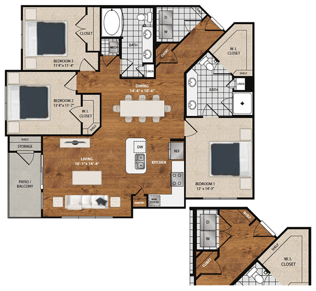 3 Bedrooms 2 Bathrooms Apartment for rent at 8085 At Traditions in Bryan, TX