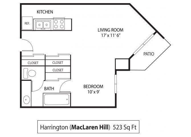 Studio 1 Bathroom Apartment for rent at Maclaren Hill Apartments in St Paul, MN