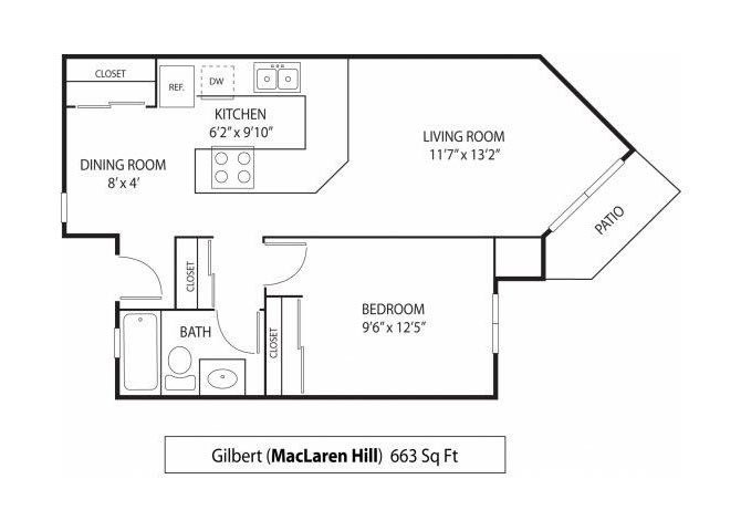1 Bedroom 1 Bathroom Apartment for rent at Maclaren Hill Apartments in St Paul, MN