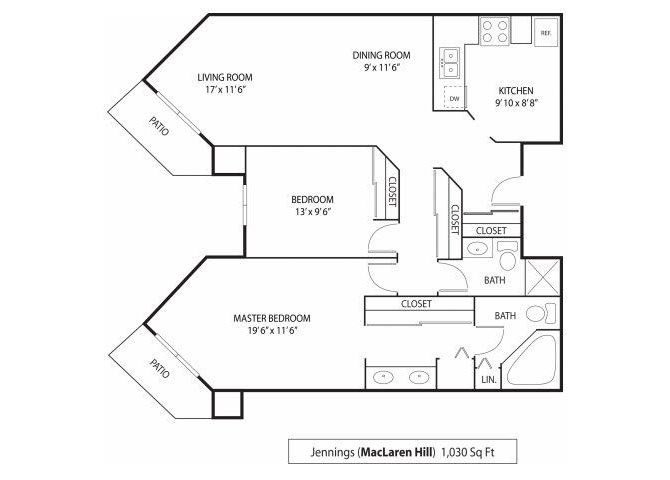 2 Bedrooms 1 Bathroom Apartment for rent at Maclaren Hill Apartments in St Paul, MN