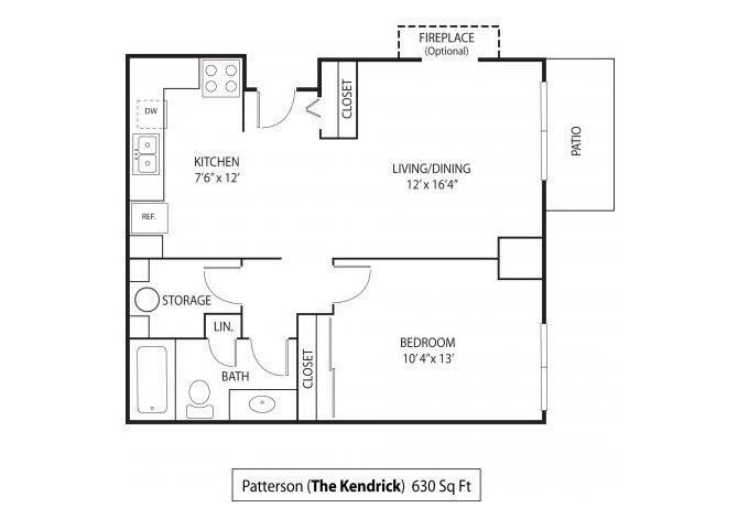 1 Bedroom 1 Bathroom Apartment for rent at The Kendrick Apartments in St Paul, MN