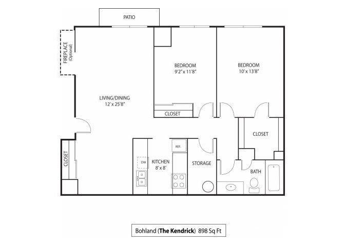 2 Bedrooms 1 Bathroom Apartment for rent at The Kendrick Apartments in St Paul, MN
