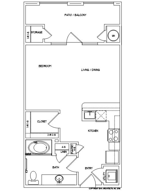 Studio 1 Bathroom Apartment for rent at Mela in San Antonio, TX
