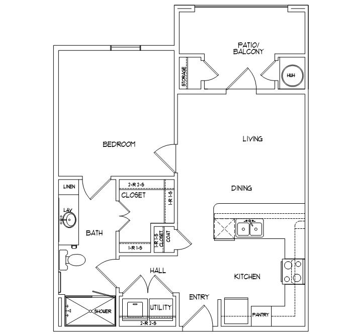 1 Bedroom 1 Bathroom Apartment for rent at Mela in San Antonio, TX