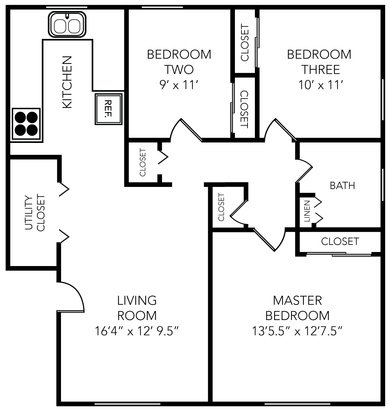 3 Bedrooms 1 Bathroom Apartment for rent at Manchester Flats in Ann Arbor, MI