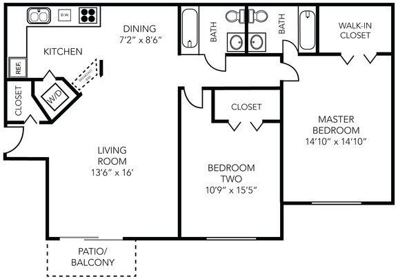 2 Bedrooms 2 Bathrooms Apartment for rent at Manchester West in Ann Arbor, MI