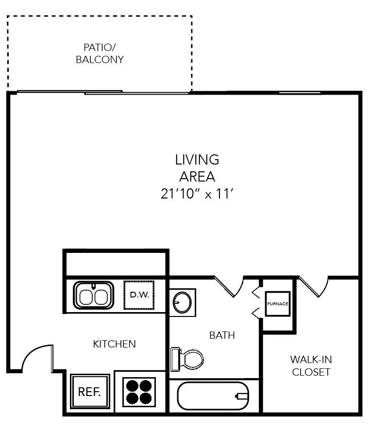 Studio 1 Bathroom Apartment for rent at Bellagio in Orlando, FL