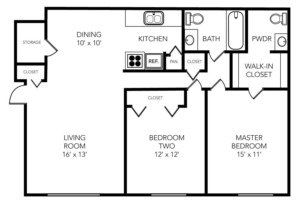 2 Bedrooms 1 Bathroom Apartment for rent at Evergreen in Ann Arbor, MI