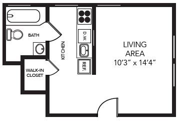 Studio 1 Bathroom Apartment for rent at Beach Flats in Tampa, FL