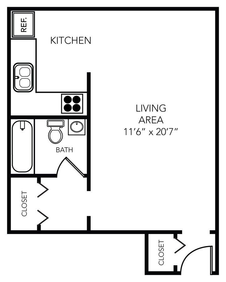 Studio 1 Bathroom Apartment for rent at Schoolhouse Flats in Tampa, FL