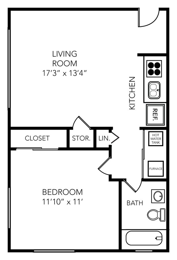 1 Bedroom 1 Bathroom Apartment for rent at Manchester Flats in Ann Arbor, MI