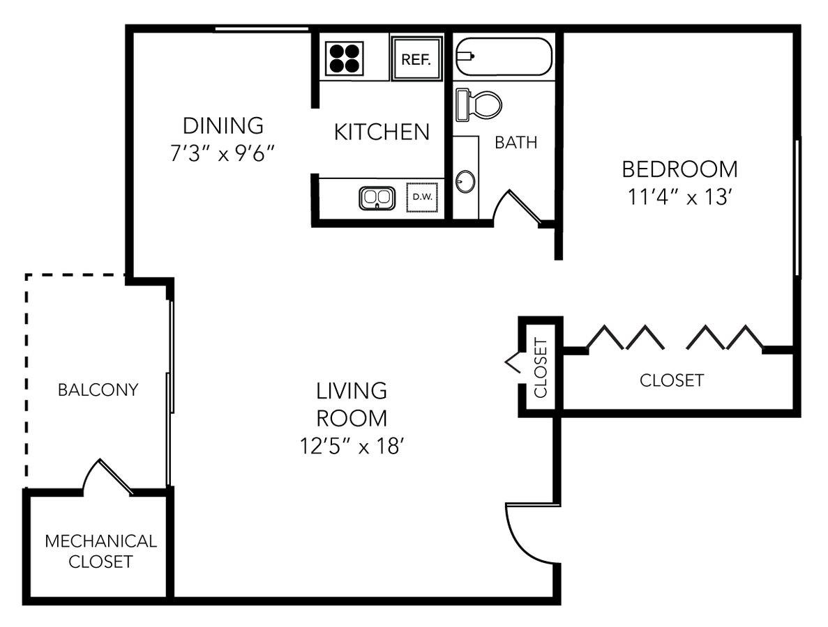1 Bedroom 1 Bathroom Apartment for rent at Park Place in Ann Arbor, MI