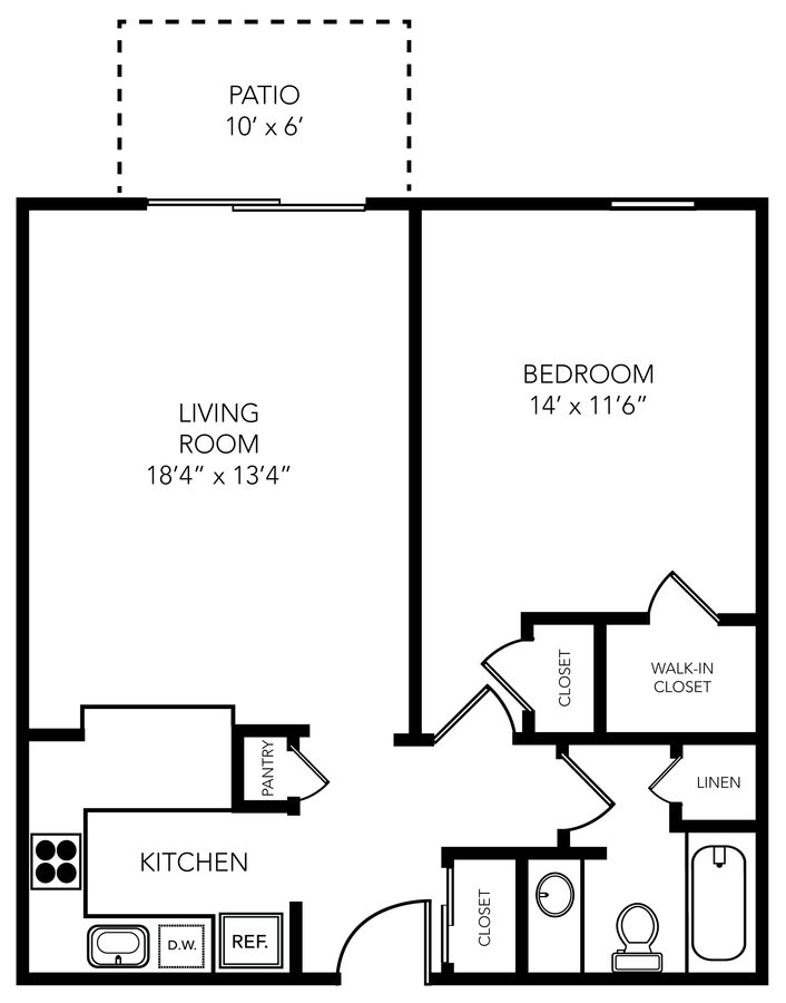 1 Bedroom 1 Bathroom Apartment for rent at Manhattan Flats in Tampa, FL
