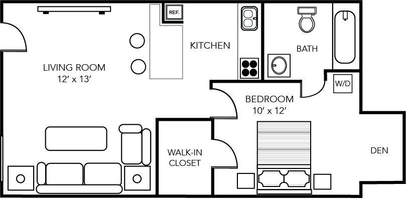 1 Bedroom 1 Bathroom Apartment for rent at Indigo Winter Park in Winter Park, FL