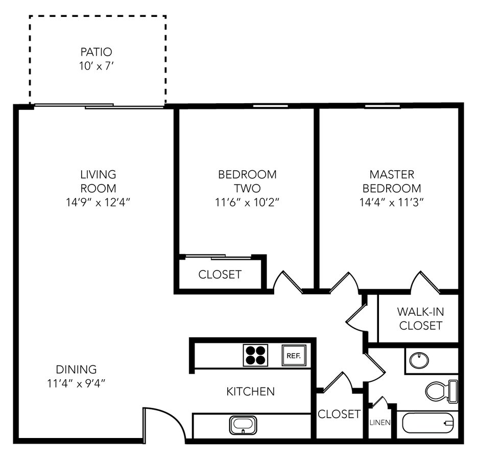 2 Bedrooms 1 Bathroom Apartment for rent at Manhattan Flats in Tampa, FL