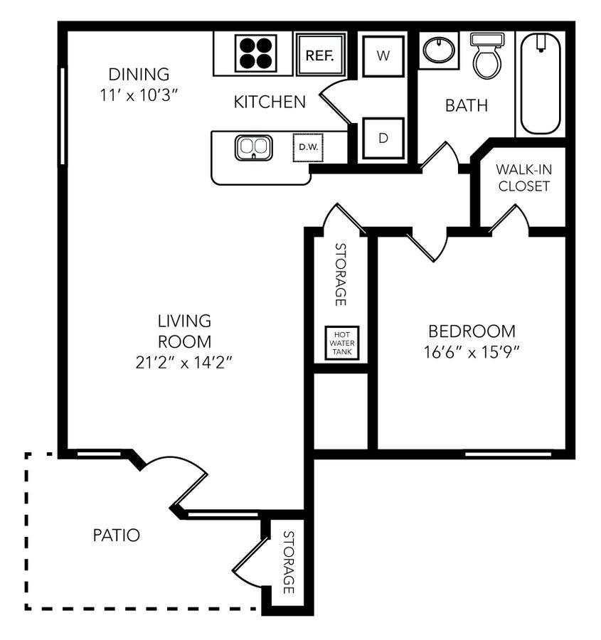 1 Bedroom 1 Bathroom Apartment for rent at Palio Apartments in Orlando, FL