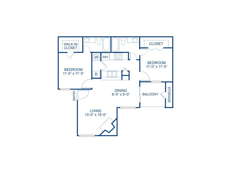 2 Bedrooms 2 Bathrooms Apartment for rent at Bella Solara in Las Vegas, NV
