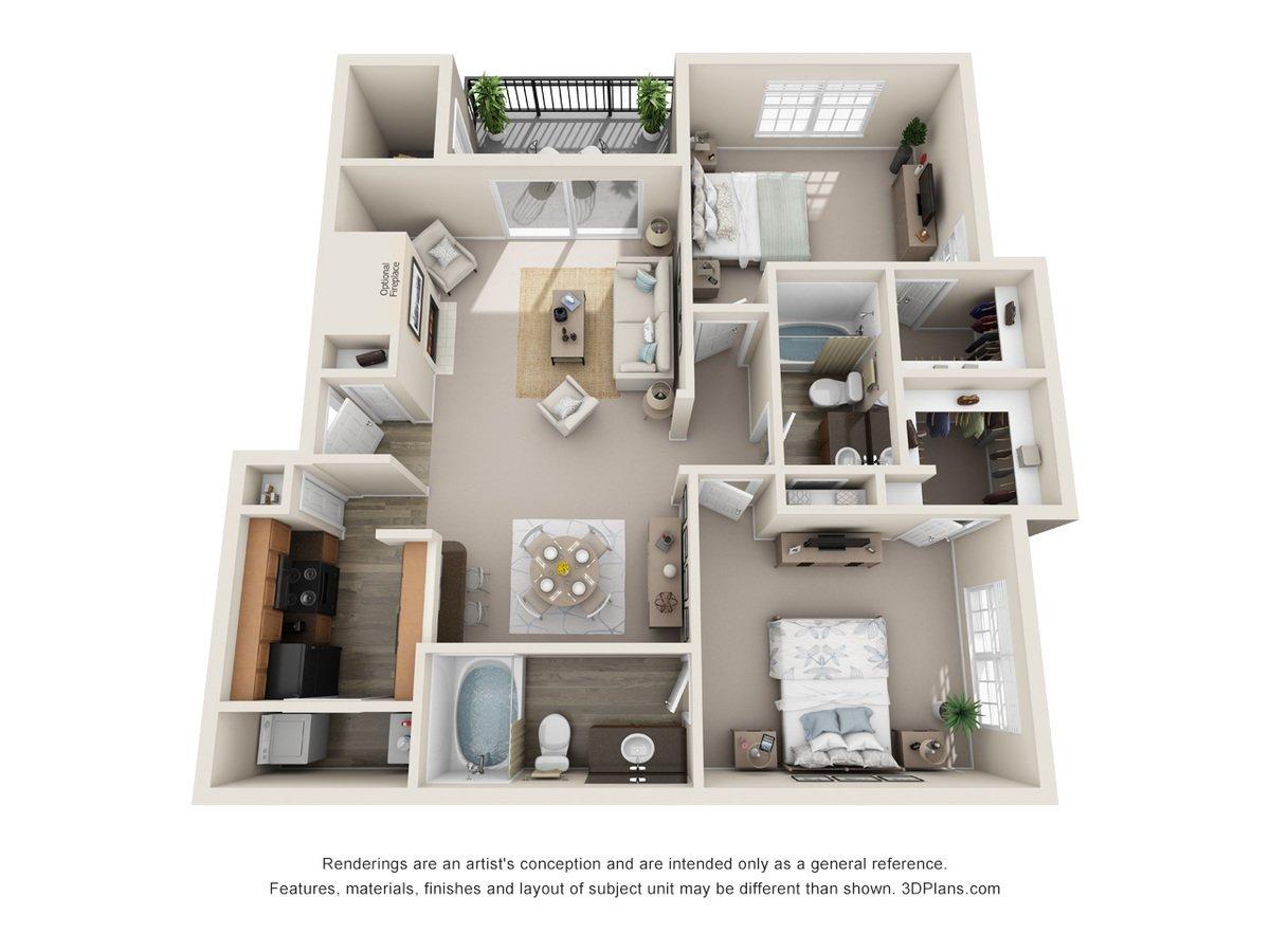 2 Bedrooms 2 Bathrooms Apartment for rent at Talavera Apartments in San Antonio, TX