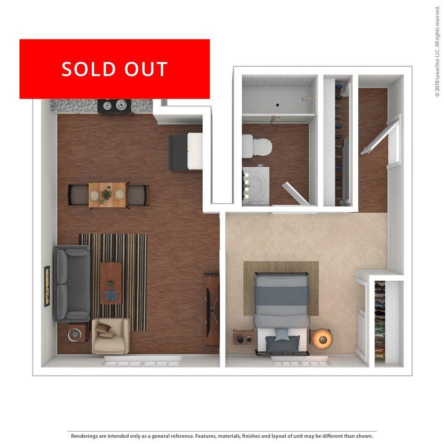 1 Bedroom 1 Bathroom Apartment for rent at The Social @ Auburn in Auburn, AL