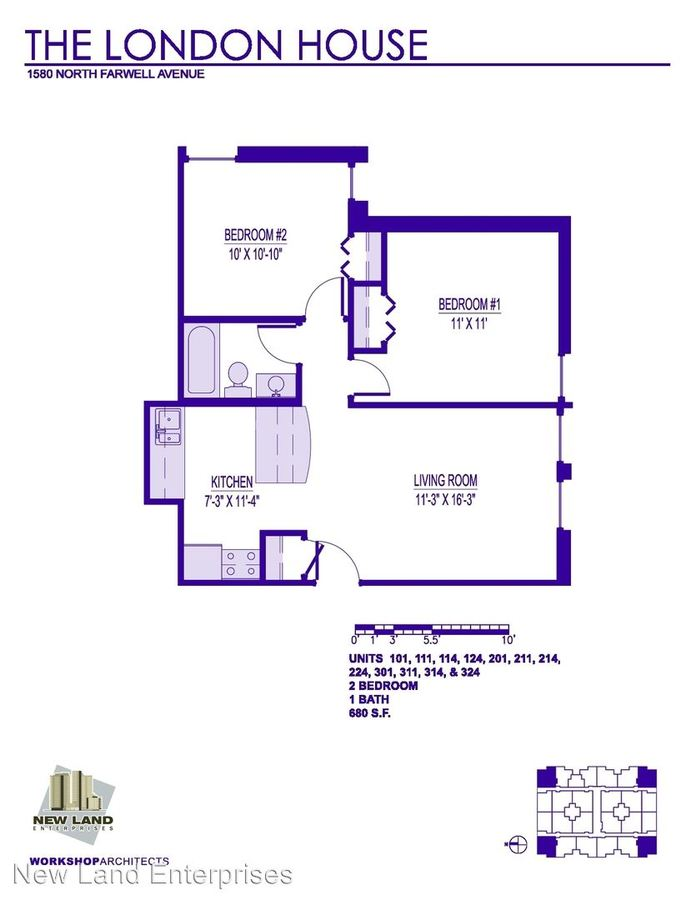 2 Bedrooms 1 Bathroom Apartment for rent at 1580 N Farwell Ave in Milwaukee, WI