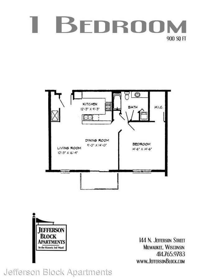 1 Bedroom 1 Bathroom Apartment for rent at 143 N Jackson St in Milwaukee, WI