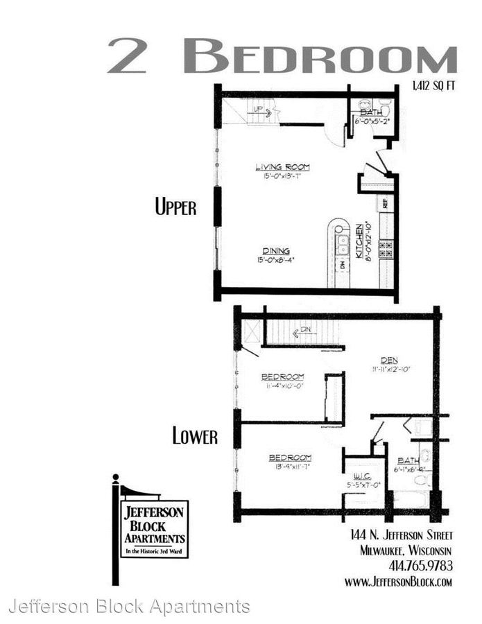 2 Bedrooms 1 Bathroom Apartment for rent at 143 N Jackson St in Milwaukee, WI
