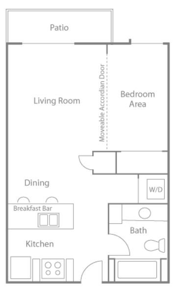 Studio 1 Bathroom Apartment for rent at Greenbriar Village in Madison, WI