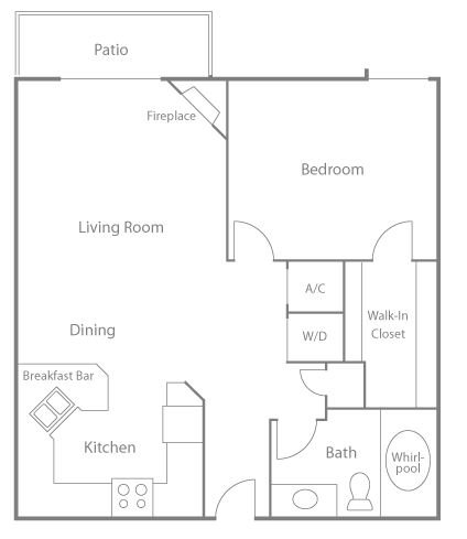 1 Bedroom 1 Bathroom Apartment for rent at Greenbriar Village in Madison, WI