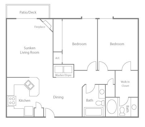 2 Bedrooms 2 Bathrooms Apartment for rent at Greenbriar Village in Madison, WI