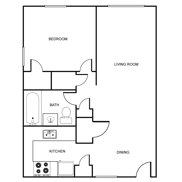 1 Bedroom 1 Bathroom Apartment for rent at Heritage Pointe in Oklahoma City, OK