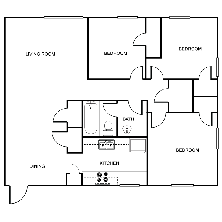 3 Bedrooms 1 Bathroom Apartment for rent at Heritage Pointe in Oklahoma City, OK