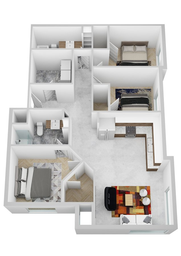 3 Bedrooms 2 Bathrooms Apartment for rent at Harvestview Place II in Rochester, MN
