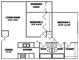 2 Bedrooms 2 Bathrooms Apartment for rent at Aaron Lake Apartments in Bradenton, FL