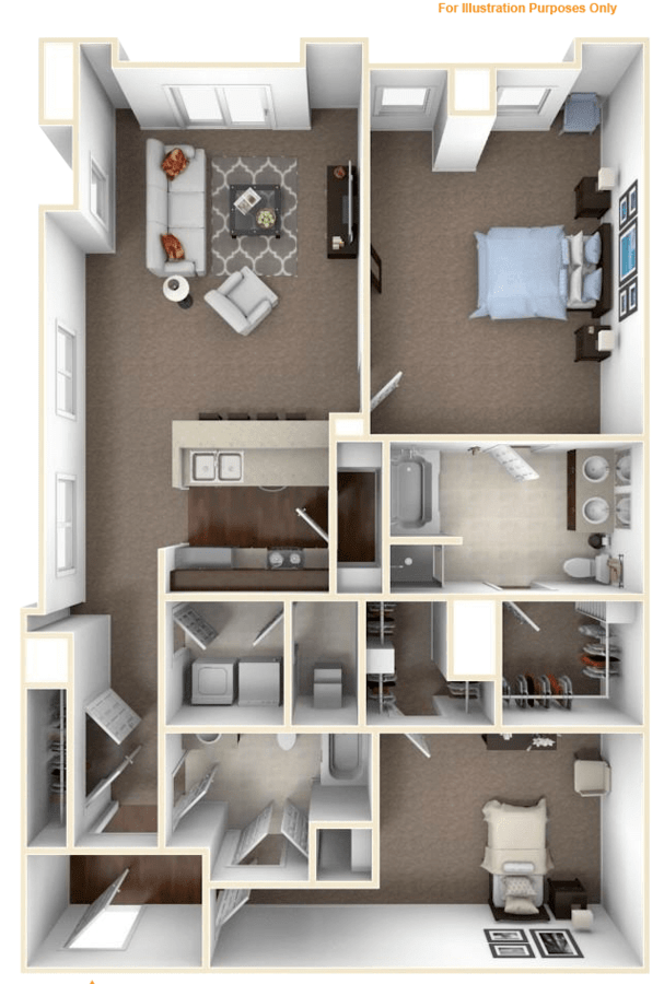 2 Bedrooms 2 Bathrooms Apartment for rent at The Residences At Carmel City Center in Carmel, IN