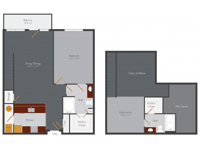 2 Bedrooms 2 Bathrooms Apartment for rent at Pencil Factory Flats & Shops in Atlanta, GA