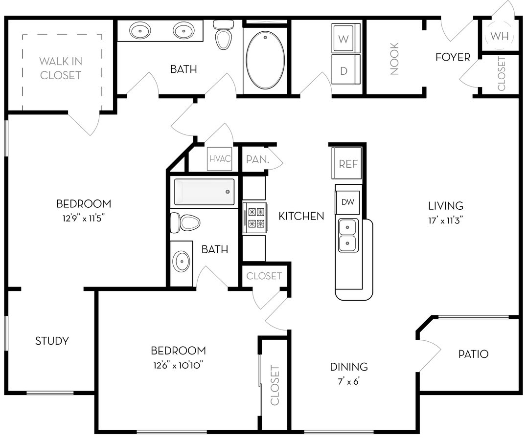 2 Bedrooms 2 Bathrooms Apartment for rent at The Ridge at Lowry in Denver, CO