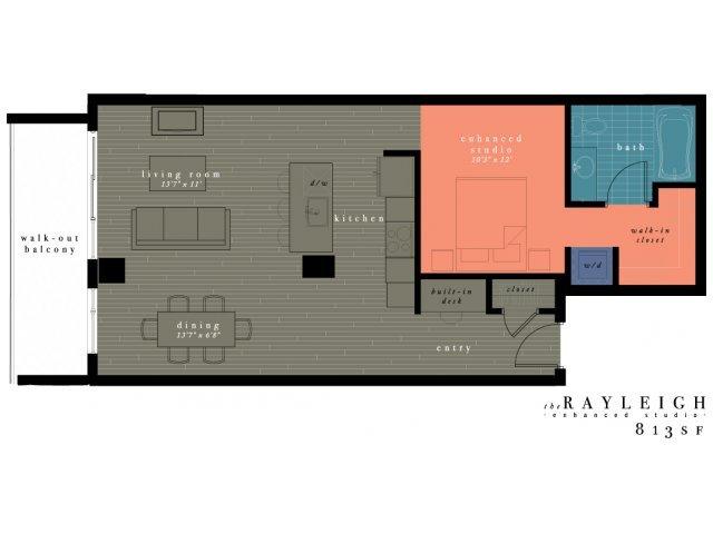 Studio 1 Bathroom Apartment for rent at One Observatory Park in Denver, CO