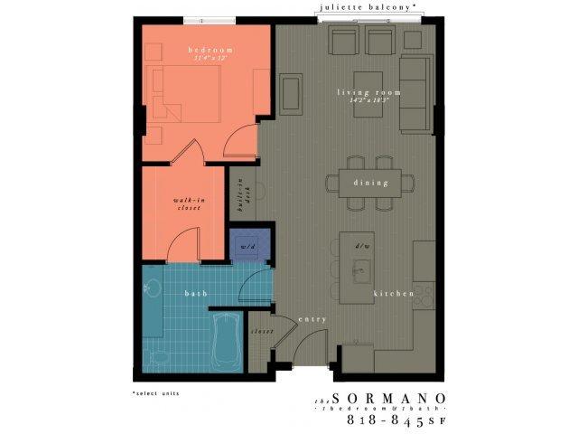 1 Bedroom 1 Bathroom Apartment for rent at One Observatory Park in Denver, CO