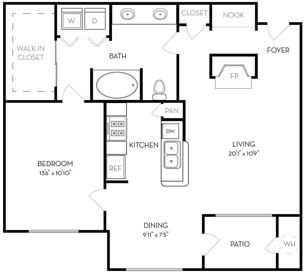 1 Bedroom 1 Bathroom Apartment for rent at The Ridge at Lowry in Denver, CO