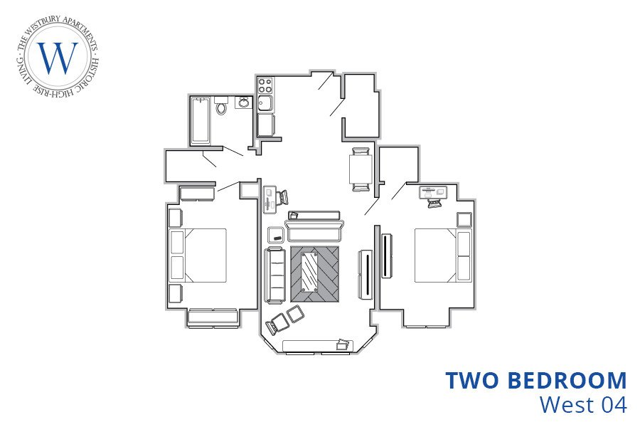 2 Bedrooms 1 Bathroom Apartment for rent at The Westbury Apartments in Philadelphia, PA