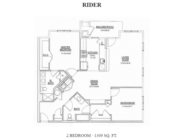 2 Bedrooms 2 Bathrooms Apartment for rent at Heritage Court Apartments in Ewing, NJ